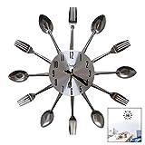 LSTK Relojes Cocina, Reloj De Pared con Cuchillo y Tenedor, Reloj...