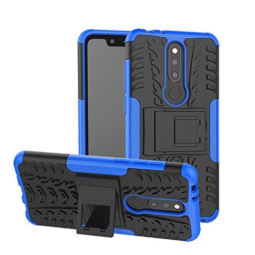 TiHen Cover Nokia 5.1 Plus/ X5,Custodia 360 Gradi + Pellicola Vetro temperato Alta qualità [2 Pezzi] Case Cover custodie Cellulare Stilosa Protettiva Bumper per Nokia 5.1 Plus/ X5- Blu