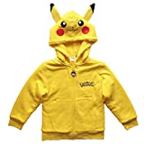 Pokemon Pikachu Boys Sherpa Fleece Costume Hoodie (8) Yellow