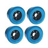 Maython Skateboard Wheels 83mm Cruiser Wheels Longboard Offroad Wheels Set of 4 Blue