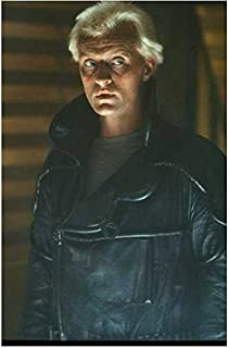Rutger Hauer 8 Inch x10 Inch Photo from Slide Negative Blade Runner Ladyhawke Batman Begins Black Leather Jacket Eyes Looking Left kn