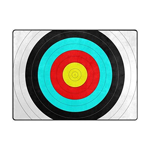 DEZIRO - Felpudo antideslizante con diseño de tiro con arco, poliéster, 1, 63 x 48 inch