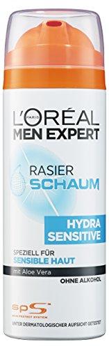 L'Oréal Paris Men Expert Hydra Sensitiv Rasierschaum, 6er Pack (6 x 200 ml)