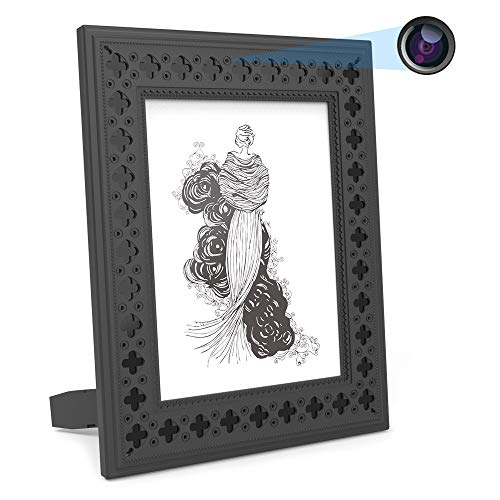 Hidden Camera WiFi Photo Frame HD Home Security Spy Camera Night Vision and Motion Detection...