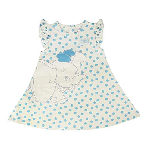 Cerdá Vestidos Bebe Niña 12 Meses Disney Dumbo-Color Blanco Bebés