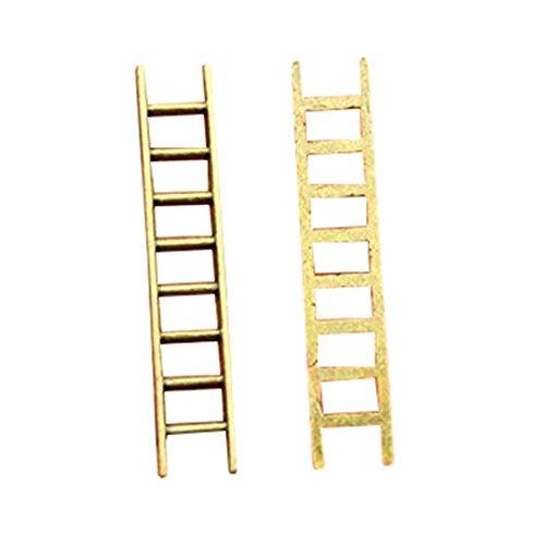 6 stks 51 * 10mm vintage antieke bronzen kleur Ladders bedels