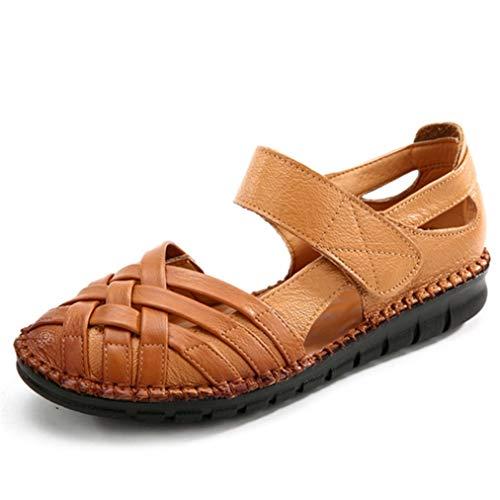 Frauen Sommer Muffin Schuhe Light Weight Close Strap Flache Loafers Classics Aushöhlen Rom Casual Pumps Weichen Boden Bequeme Sandalen