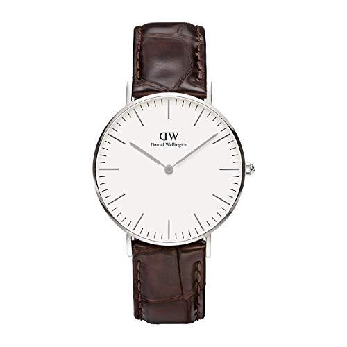 Daniel Wellington Damen Analog Quarz Smart Watch Armbanduhr mit Leder Armband DW00100055