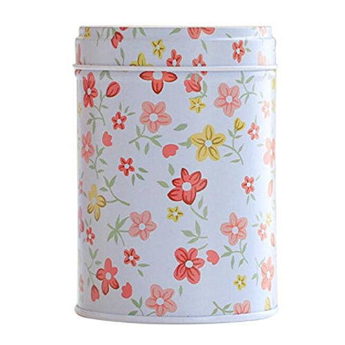 1pcs Beautiful Flower Storage Box,Small Big Metal Tin Boxes Tea Box for Sugar Coffee Coin and Small Things Storage ( 6.5cmx9.2cm#A8