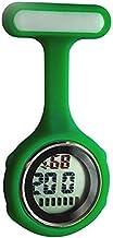 Ellemka sjuksköterska klocka FOB digital display kvarts rörelse silikonrem – JCM-330 grön mörk burk presentförpackning