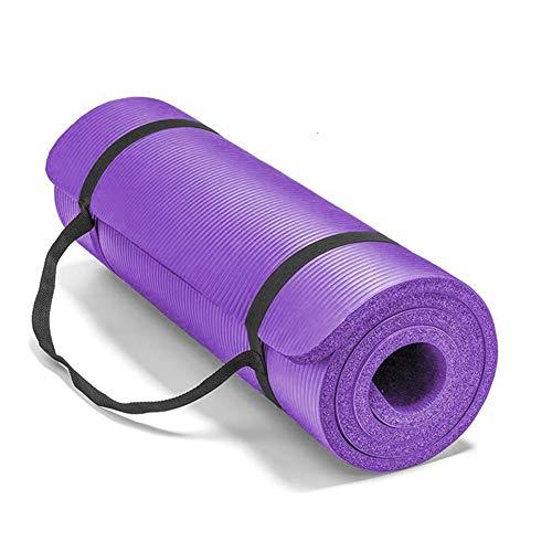 POOPFIY 15mm Yoga Mat Extra Gruesa 183 * 61cm Antideslizante Mat Almohada para los Hombres Aptitud de Las Mujeres insípido Gimnasio Pads Ejercicio de Pilates Yoga Mats,Púrpura