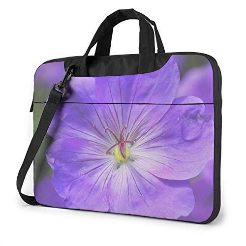 Cool Violet Flower Laptop Bag 14 Inch Shoulder Messenger Bag Computer Tote Briefcase for Work School