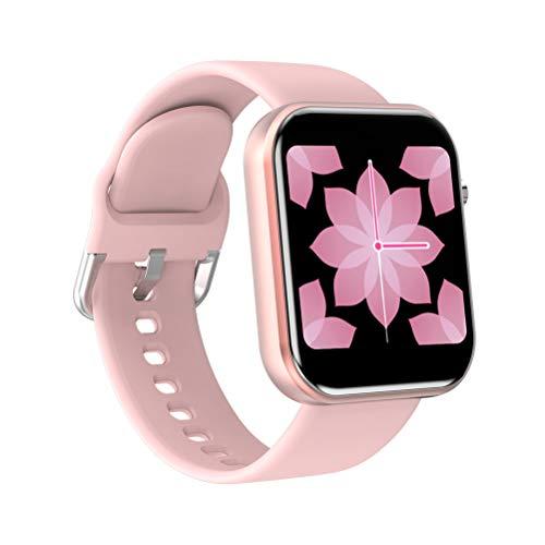 HJKPM Smartwatch con Pantalla Grande A Color De 1,54 Pulgadas, Reloj Inteligente para Mujer Totalmente Compatible con Función De Detección De ECG De Frecuencia Cardíaca Y Presión Arterial,Rosado