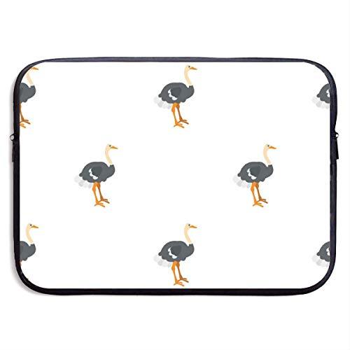 Ostrich 13-15 Inch Laptop Sleeve Bag Portable Dual Zipper Case Cover Pouch Holder Pocket Tablet Bag,Water Resistant For Women Men Unisex