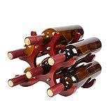 XuZeLii Portavini 6 Bottiglie Dispensa Cremagliera del Vino Cremagliera Vino Atto A Bar nel Seminterrato Adatto per Ristorante Cantina (Color : Red, Size : 26x16.5x21.5cm)