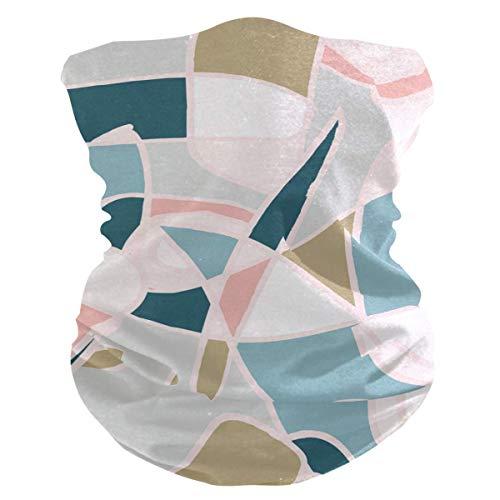 OKME Custom Bandana,Helle Mehrfarbige Nahtlose Abstrakte Retro-Linien-Halsmanschette, Stilvolle Sportgesichtsschutz Für Das Radfahren Der Jagd Im Freien 25x50cm