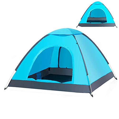 GXCX Instant Pop Up Tent, Automatic Portable Beach Tent, Outdoor Sun Shelter With Carry Bag UV Protection Suitable for Family Garden/Camping/Fishing, 220 * 220 * 135cm blue