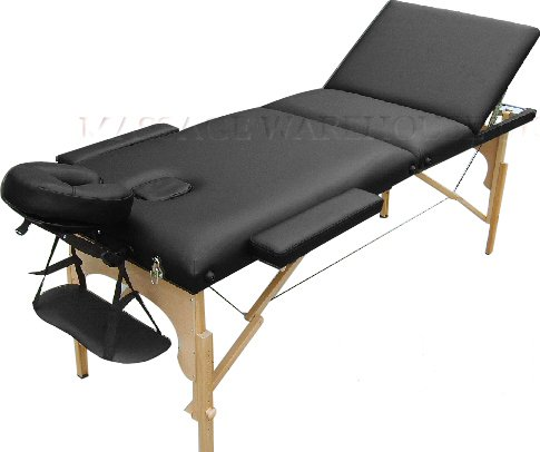"""Combi-Lite 3-in-1 Wooden Portable Massage Table: 28"""" (71cm) Wide. 5""""..."""