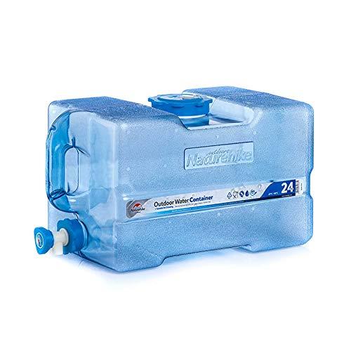 Gnohnay 24L Contenedor de Agua Portátil para Exteriores, Cubo de Agua para Acampar con Báscula, Cubo Agua con Grifo y Asa para Picnic, Barbacoa, Viajes
