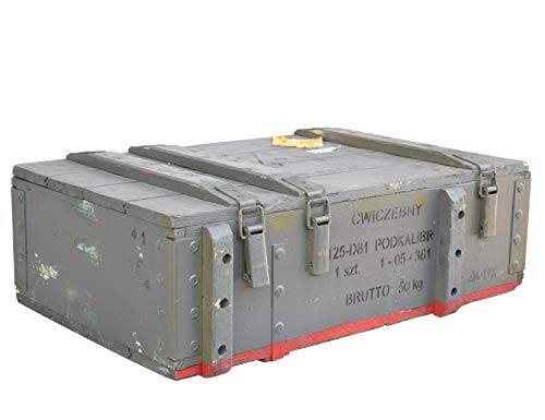 Obstkisten-online Großzügige Munitionskiste aus Holz im Military Style, 82x51x29cm - Militär Truhe Offizierskoffer Aufbewahrungskiste Munitionsbox Militaria - 3