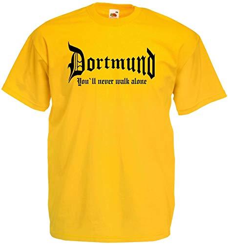 World of Shirt Herren T-Shirt Dortmund You Never Walk Alone