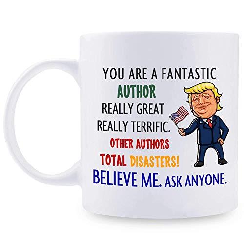 Geschenke für den Autor, personalisierte Donald Trump Tasse, lustige fantastische Autor Kaffeetasse, bester Autor aller Zeiten, Autor Trump Gag Geschenkideen für Geburtstag / Weihnachten / Jubiläum 11