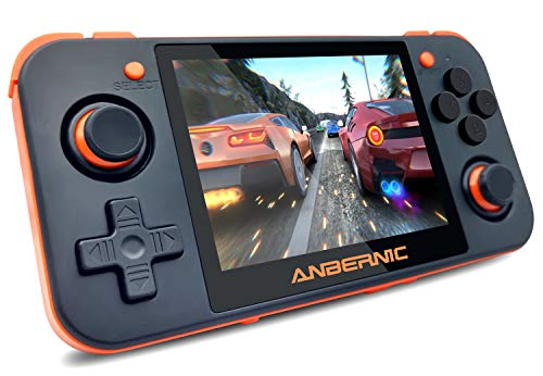 MJKJ Handheld Game Console ,RG350 Retro Game Console OpenDingux Tony System , Free with 32G TF Card Built-in 2500 Classic Game Console 3 Inch IPS Screen Portable Video Game Console - Black