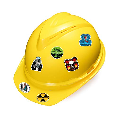 Hard Hat Stickers for Tool Box Helmet [105pcs] - Funny Cool Vinyl Sticker for Men Construction Welding Union Military Ironworker Lineman Oilfield Electrician Pipeliner Ibew - American Patriotic Decals