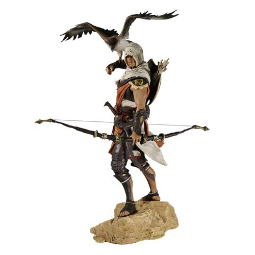 DMCMX Assassin 's Creed Origini Giocattolo Statua Toy Model Game Character Bayek Guardiano Assassino Maestro Partner Senu Souvenir Crafts Statico Character Decorazione 25CM Giocattoli