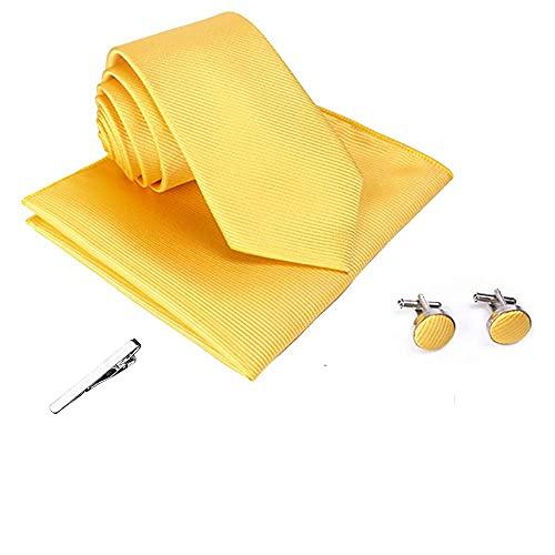 XFentech Traje de Corbata para Hombre - Clásica Corbata de Hombres con Hilo de Poliéster para Bodas, Fiestas, Negocios, Citas, PT571T-J