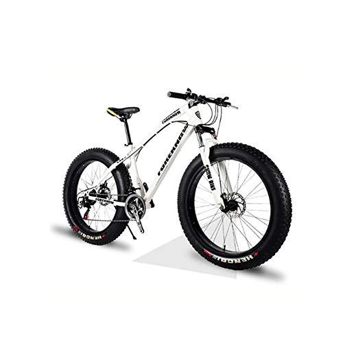 DPFXNN 26 Pulgadas, 27 velocidades, Todoterreno, Bicicleta de montaña, Marco de Aluminio, Snow Beach 4.0, neumáticos de Bicicleta de Gran tamaño, vehículos Todoterreno para Hombres y Mujeres