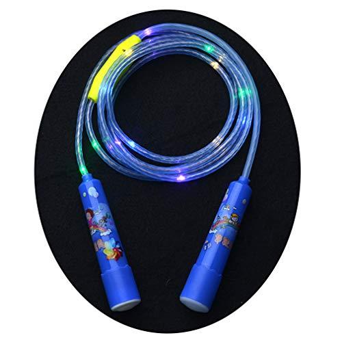 YUNZI LED Glühend Springseil, Fitness Übung Springseil Anti-Rutsch Länge Einstellbar Leuchtet Im Dunkeln Sprungseil Zum Kinder Erwachsene (Zufällige Farbe)