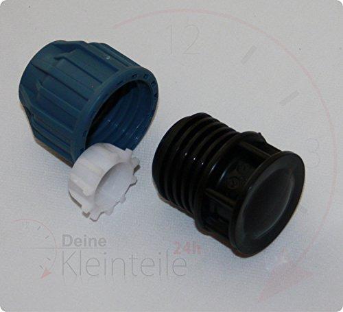 Deine-Petites pièces 24 40 mm Tuyau PE Plastique PP Raccord de serrage Raccord à vis Bouchon AG PEX