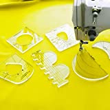 UnitedSalesTeam Sewing Tools Kit for Domestic Sewing Machines – 6Pc Quilting Ruler Template