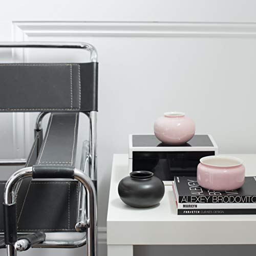 NestSet - Black Decorative Box, Pink Vases, Black Bowl, Rebel Style, Alexey Brodovitch and Farfetch Curates Design Book - Home Decor Kit (7 Items) for Side Table, Console, Living Room, Entryway
