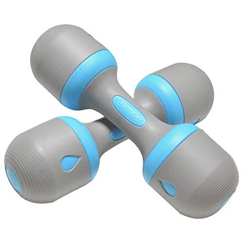 MIIGA Hantel 2er-Set verstellbares Gewicht 2 x 1-5 kg für Aerobic Gymnastik Krafttraining Gewichtheben Fitnesstraining Yoga Muskeltraining Indoor/Outdoor-Training (Blau)