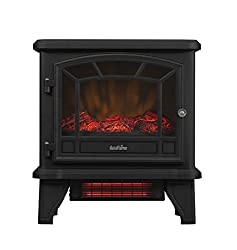 Duraflame DFI-550-22 Freestanding Infrared Quartz Fireplace Stove with Remote Control 1500W, Black