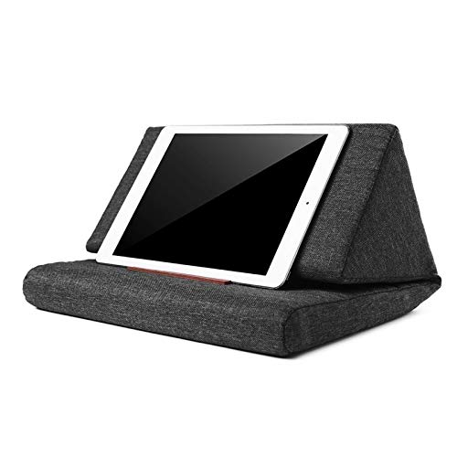 NVFED Multi-function Laptop Cushion Holder Colorful Lapdesk Tablet Stand Pillow Polyester Cutton PC Reading Bracket Pillow for ipad (Color : Black)