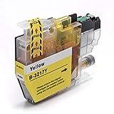 vhbw cartuccia d'inchiostro stampante giallo 12ml con chip per brother mfc-j5330, mfc-j5335dw, mfc-j5730dw, mfc-j5830dw, mfc-j5930dw, mfc-j6530dw