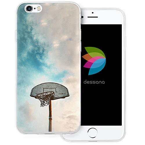 dessana Basketball - Custodia protettiva trasparente per Apple, Korb Netz, Apple iPhone 6/6S