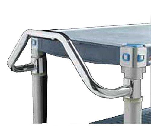 Metro MERGH24S MetroMax Q Chrome Stainless Steel 304 Ergonomic Easy Grip Handle, 24' Width
