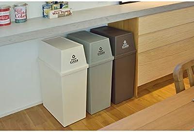 東谷(Azumaya-kk) フタ付きゴミ箱 ブラウン W28×D45×H67cm LFS-761BR