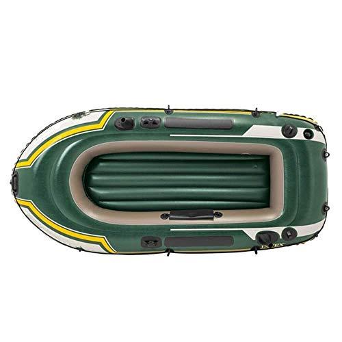 ZWJ-JJ QuRong kayak doble inflable del barco de pesca durable fuerte de goma Kayak calidad de PVC impermeable Drive Barco for enviar la paleta y las bombas for las vacaciones, PVC, verde, 236 × 114 ×