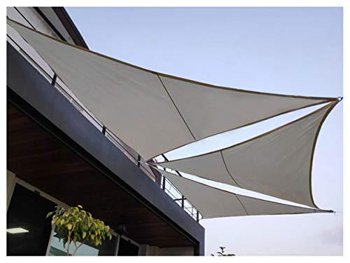 ZX Toldo Parasol Triangular 3x3x3m Toldo Sombra Exterior Impermeable Resistente 95% Bloque UV para Jardín,Patio,Exteriores Gris