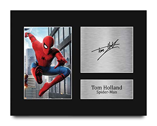 HWC Trading Tom Holland Gift Signed US Letter Size Printed Autograph Spiderman Gifts Print Photo Picture Display