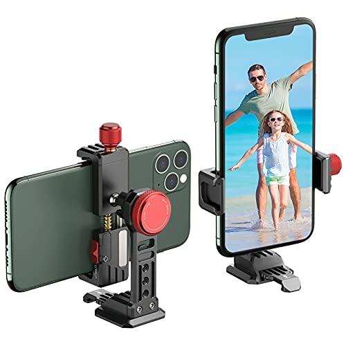 VIJIM ST-14 Adaptateur pour Trepied de Smartphone, Support pour Trepied de Smartphone pour iPhone, Samsung et Smartphone Android, Compatible avec Trépied 1/4'', 3/8'' et Trépied Arca Swiss