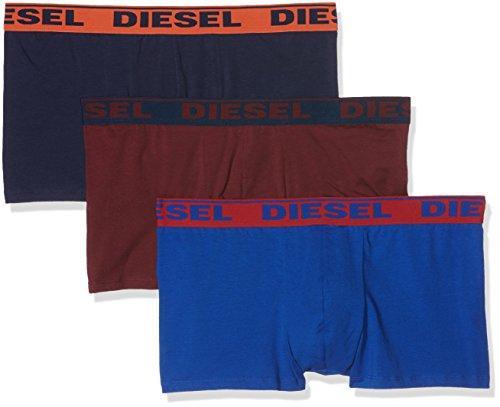 Diesel Men's 3-Pack Shawn Stretch Boxer Trunk, Royal Blue/Burgundy/Navy, Medium