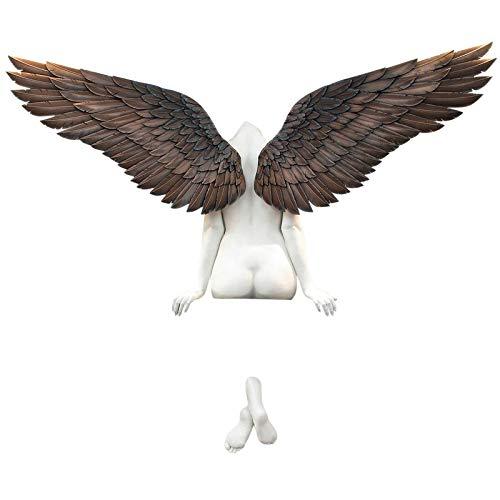 3D EngelsflüGel Wandskulptur, Weinlese Engel Art Skulptur Wanddekoration Statue, Engel Statuen, Engel Kunst Skulptur Dekorative GroßE EngelsflüGel 3D Statue füR Wohnzimmer Schlafzimmer Dekor (2PCS)