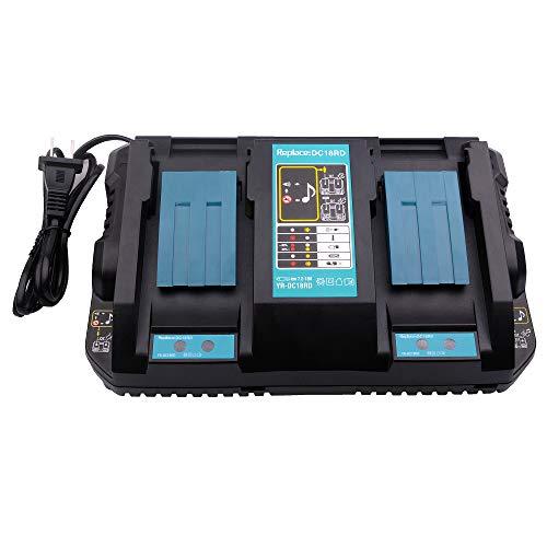 14.4 - 18 V de iones de litio Cargador de Dual Puerto dc18rd para Makita LXT 14,4 - Batería de ion de litio de 18 V de cargador DC18RC DC18RA dc18sf