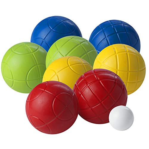 Franklin Sports Bocce Set - 8 All Weather Bocce Balls and 1 Pallino - Beach, Backyard, or Outdoor Party Game - Family Fun for All Ages - Starter Set